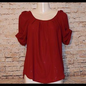 Tops - Burgundy blouse 5/25